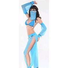 WD Lingerie - FANCY DRESS ARABIAN DANCER COSTUME / BLUE BELLY DANCER... via Polyvore