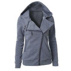 2016 Women Sweatshirt Zipper Hooded Jacket Hoodie For Women Brand Autumn Winter Women's Hoodie Solid Coat Hoodie Clothing