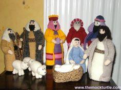 A knitted Nativity set. Isn't it sweet.