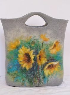 Wow~! This lady from Lithuania makes some STUNNING things with felt.