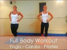 45 Min Full Workout Video - Fusion:Pilates, Cardio, Yoga, Kickboxing