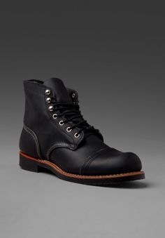 "RED WING SHOES Iron Ranger 6"" Iron Ranger in Black Harness ($200-500) - Svpply"