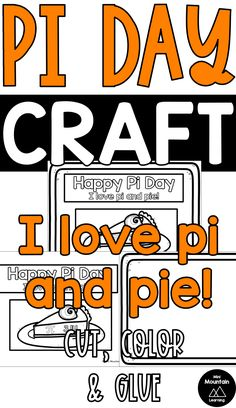 Have your students complete this craft for pi day, March Color the border, words and piece of Cut the words and piece Glue on the words and Example Border Page with words and piece of pieHappy Pi Day!You might also like: Pi Day BundlePi Day Activitie. New Year's Crafts, Summer Crafts, Fall Crafts, Halloween Crafts, Christmas Crafts, Crafts For Kids, Fathers Day Crafts, Valentine Day Crafts, Classroom Activities