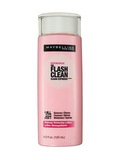 The scariest part of Halloween? Waking up to the smudgy remains of the crazy makeup, glitter, or paint you slapped on your face. Maybelline New York The Flash Clean Makeup Removing Lotion melts into a milk lotion when you massage it into skin, whisking away waterproof eye makeup in seconds