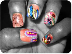 NailGurl: Nail Polish Review Blog, Nail Art, & Celebrity Nails: Tee Is Rocking: Neon Leopard Abstract Realness