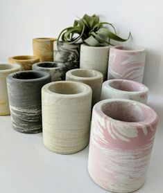 Gift for Boss. Cement Art, Cement Crafts, Rope Crafts, Concrete Bowl, Concrete Planters, Shot Glass Size, Q Tip Holder, Marble Bathroom Accessories, Design Café