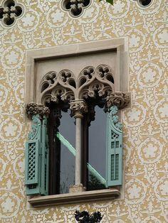Casa Amatller by rodtect, via Flickr Architecture Old, Amazing Architecture, Architecture Details, Arched Windows, Windows And Doors, Art Nouveau, Building A Door, Window Shutters, Window Dressings