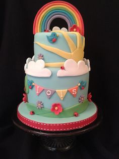 rainbow cake by peggypal, via Flickr