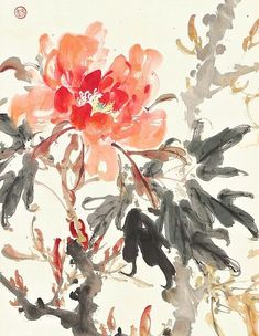 Zhao Shao'ang Peonies. detail 1937