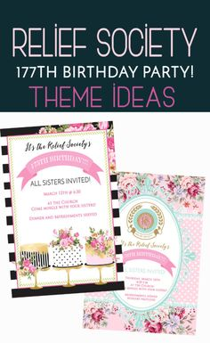 – Colorful Is Happy Relief Society Birthday Party Invitations & Party Ideas! – Colorful Is Happy Relief Society Theme, Relief Society Activities, Birthday Activities, Party Activities, Kids Birthday Party Invitations, Birthday Invitation Templates, Visiting Teaching Handouts, Enrichment Activities, Singing Time