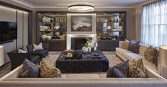 The living room at one of our Marylebone projects #livingroom #interiors…