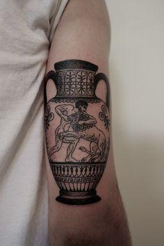Greek Vase Tattoo