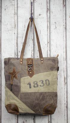 Sunsa Vintage Tasche Retro Canvas Handtasche Schultertasche Shopper Canvastasche Ledertasche Leder