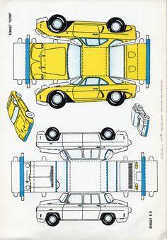 Voiture Cars En Kirigami Patron