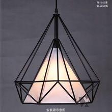 luz de la lámpara de hierro iluminación pirámide arte colgante Cocina Casa pendiente de la barra de color negro , envío libre(China (Mainland))