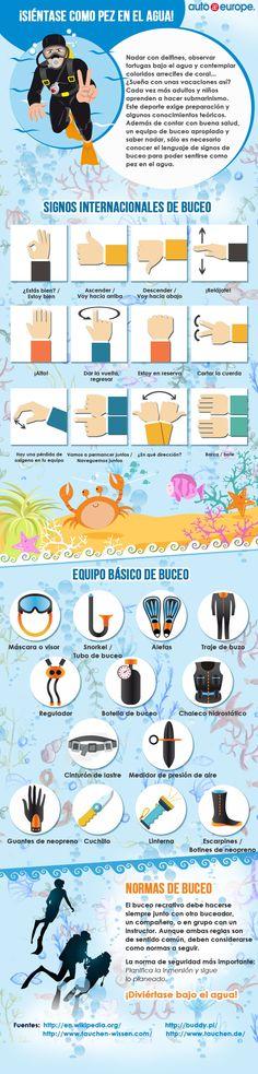Infografía: Bucear en vacaciones - Consulte nuestras infografías aquí: http://www.autoeurope.es/go/infografias/