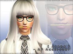 Now your school Sims can look rather trendy with this handy pencil accessory for the mouth. Enjoy!  Found in TSR Category 'Miscellaneous'