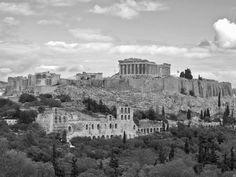 View of Acropolis Hill from Pnyx Hill, Athens, Greece My Athens, Athens Greece, Acropolis, Sandy Beaches, Beautiful Islands, Landscaping, Architecture, Places, Water
