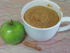 Telita na Cozinha: bolo de maçã e canela na caneca