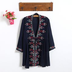 US $28.56     Get Stylish Clothes On A Budget!     FREE Shipping Worldwide     Buy one here---> http://ebonyemporium.com/products/2017-new-spring-autumn-womens-clothing-women-embroidery-loose-dress-female-white-vintage-dresses-vestidos-e303/    #womensclothes