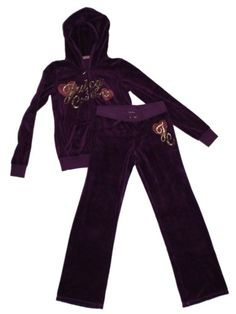 Girl Juicy Couture Purple Velour Yoga Pants Hoody Size 10 $69.99 OBO