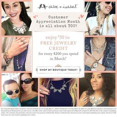 Don't forget it's still customer appreciation month! For every $200 spent receive $50 in jewelry credit  Message me for details (link in bio) #chloeandisabel #CandI #candibyyesenia #ilovecandi #cam #customerappreciation #march #ilovemyclients #brides #bridetobe #gifts #weddings #sahm #wahm #smallbusiness #jewelry #jewelryaddict #jewelrygram #fashion #trendy #onlineboutique #linkinbio #spring by jeweledbeautyy
