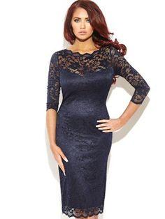 Georgia 3/4 Sleeve Lace Midi Dress, http://www.isme.com/amy-childs-georgia-34-sleeve-lace-midi-dress/1342748284.prd