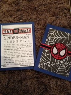 Spider-man birthday invites