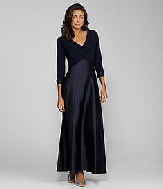 d11448e7448 Holiday dress  Patra Jersey and Satin Gown  Dillards Bride Groom Dress