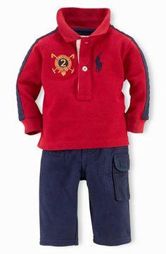 Ralph Lauren Polo Shirt  amp  Fleece Pants (Baby Boys) available at   Nordstrom 4a9601d40ba
