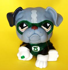 Littlest Pet Shop Green Lantern Custom Figure LPS OOAK Justice League Superhero #Hasbro
