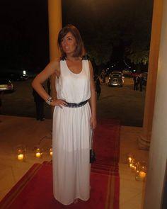 """Dress by me  Collection ""Black & White""  Jewelry: Godiva Lady  #tb #tbt #fashion #fashionista #fashionblogger #blogger #whitedress #blackandwhite…"""