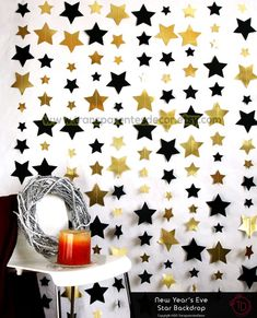 5 Movie Night HOLLYWOOD Party Hanging Decoration WALK OF FAME STAR Whirls