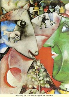 Marc Chagall. I and the Village. Olga's Gallery.