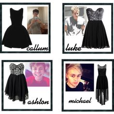 the black dress he buys you (5sos preference) - Polyvore
