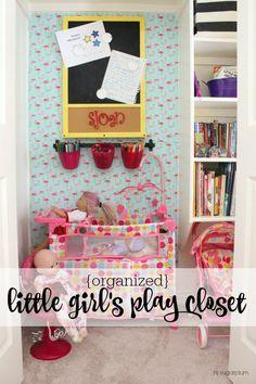 Hi Sugarplum   Organized Play Closet for kid's room