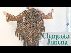 Crochet Jacket, Crochet Cardigan, Crochet Shawl, Knit Crochet, Sewing Patterns, Crochet Patterns, Knitting Stitches, Crochet Clothes, Crochet Flowers