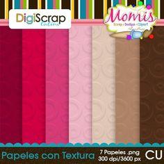 Papeles con Textura - $3.50 : DigiScrap Latino