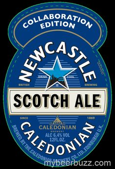 Here's a peek at the bottle packaging for Newcastle / Caledonian Collaboration Edition Scotch Ale as it prepares to head to the U. Bottle Packaging, Bottle Labels, Beer Labels, Beer Bottles, Newcastle Brown Ale, Sous Bock, British Beer, Beer Mats, Dark Beer
