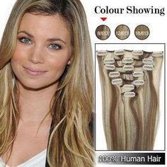 "18"" Clip in Remy Human Hair Extensions 70g 7pcs #8/613 Ash Brown/platinum Brown by Golden Pothos Hair Extensions. $38.00. Approx. Length:18"" ---weight: 70g. 7pc per a package. 7 Pieces(1 of 8"", 2 of 6"", 2 of 4"", 2 of 2""). Texture 	Straight. Material: 100% remy human hair extensions. Condition: 	Brand new--- color #8 ash brwon/platinum blonde. Now any women can easily and affordably change their length and volume with ease! Affordable, lightweight and easy to attach, this virtua..."
