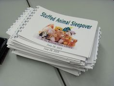Storytimes and More: Stuffed Animal Sleepover: Everyone gets a stuffed animal sleepover storybook!!
