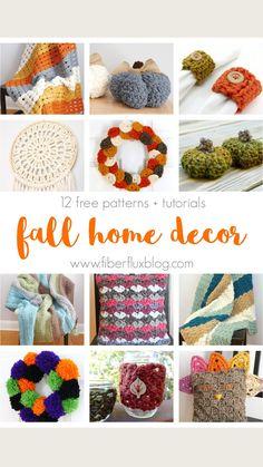 Fall Home Decor, Autumn Home, Love Crochet, Knit Crochet, Holiday Crochet, Knitting For Beginners, Craft Projects, Crochet Patterns, Crafts