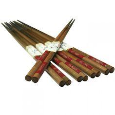 Chopsticks Set - Gold Fish on Red