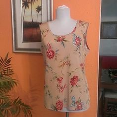 Nice Top August Max Top August Max Stretch 93%polyester, 7%spandex, beige, red, green and blue. August Max Tops