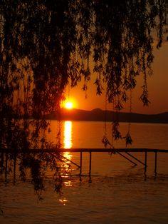 Hungary, Balaton Beautiful Sunset, Beautiful Places, Heart Of Europe, Sunrises, Eastern Europe, Budapest, The Good Place, Traveling, Mood