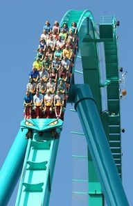 Leviathan is the first roller coaster to exceed the 300-foot mark. At 5,486 feet (1,672 m) long, 306 feet (93 m) tall, and with a top speed of 92 miles per hour (148 km/h), Leviathan is the tallest and fastest roller coaster in Canada.......