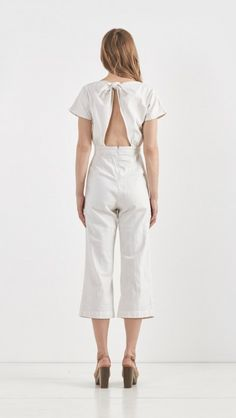 Rachel Comey Cotton Ulita Jumpsuit in Dirty White | The Dreslyn