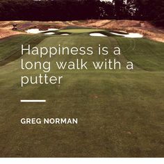 """Inspirational #golf #quote from Greg """"The Shark"""" Norman."""