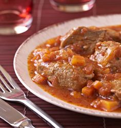 Sautéed veal marengo - the best cooking recipes of elices Veal Recipes, Polenta Recipes, Cooking Recipes, Dinner Entrees, Dinner Recipes, Healthy Italian Recipes, Healthy Lunches For Work, Dinner Healthy, Carne