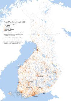 Population Density Raster Map Of Finland Population Maps Pinterest - Norway map population density